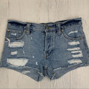 Talula Distressed Jean Shorts - SZ 24